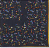 Drakes Firefly Cotton-cashmere Pocket Square