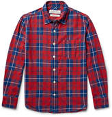 Remi Relief Checked Cotton-flannel Shirt - Red