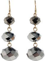 New York Earrings, Silver Bead Drop