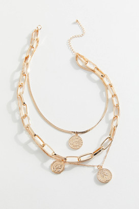 Urban Outfitters Gia Coin Layer Necklace