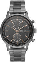 Fossil Relic By Zachary Mens Multi-Function Gray Stainless Steel Bracelet Watch-Zr12609