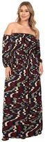 Rachel Pally Plus Size India Dress White Label Print