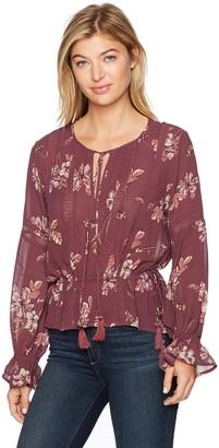 ASTR the Label Women's Rosalie Floral Woven Top