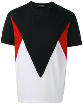 Neil Barrett color block T-shirt - men - Cotton - XL
