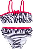 H&M Striped Ruffled Bikini - Dark blue/striped - Kids