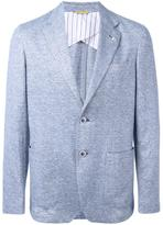 Canali patch pocket blazer - men - Cotton/Linen/Flax/Cupro - 52