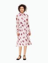 Kate Spade Encore rose chiffon dress