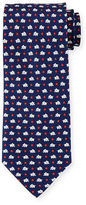 Salvatore Ferragamo Elephant & Star-Print Silk Tie