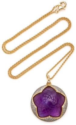 Noor Fares 18K Yellow Gold Sahasrara Carved Pendant
