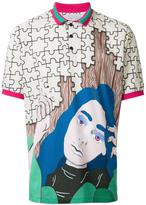 J.W.Anderson graphic print polo shirt