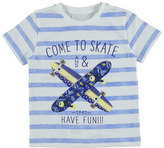 Mayoral Striped Longboard Jersey Tee, Blue, Size 3-7