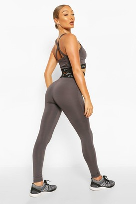boohoo Active Tight With Cross Waistband Detail
