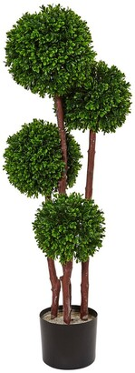 Nearly Natural 3Ft Boxwood Topiary Artificial Tree Uv Resistant (Indoor/Outdoor)