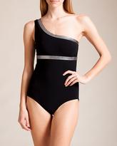 Karla Colletto Hologram One Shoulder Swimsuit
