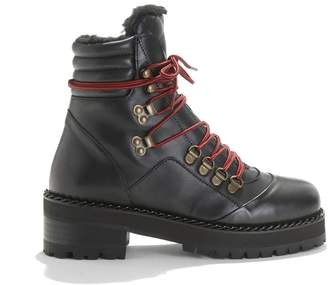 The Kooples Leather Boots with Notched Soles