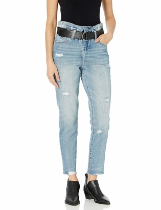 Blank NYC Women's Belted Denim HI-Rise Skinny Pants