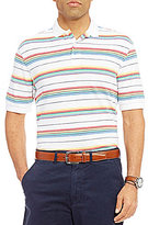 Daniel Cremieux Stripe Pique Short-Sleeve Polo Shirt