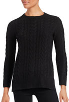Lord & Taylor Petite Petite Cable-Knit Tunic