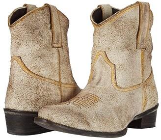 Roper Dusty Suede (Vintage Beige Suede) Cowboy Boots