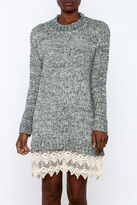 Ryu Sweater Dress With Lace