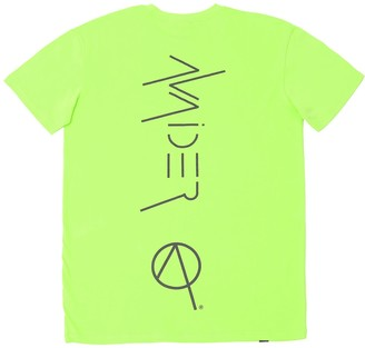 Avaider Streetwear Back Logo Crew Neck T-Shirt In Neon Green