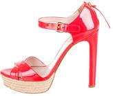 Miu Miu Platform Crossover Sandals