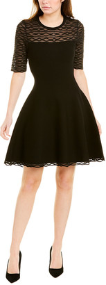 Milly Scalloped A-Line Dress
