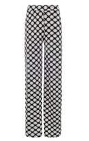 Select Fashion Fashion Womens Grey Mono Tile Palazzo - size 6
