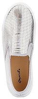 Charlotte Russe Qupid Metallic Perforated Sneakers