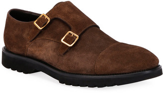 Tom Ford Men's Informal Double-Monk Suede Loafers