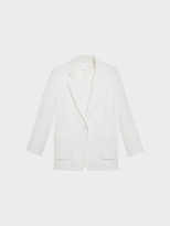 DKNY Pure Oversized Notch Collar Jacket With Rib Hems