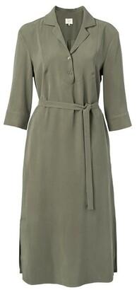 Ya-Ya Dark Olive Midi Dress - EU34 UK6