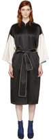 Opening Ceremony Reversible Black Silk Kimono Robe Coat