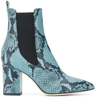Paris Texas Snakeskin Heeled Chelsea Boots