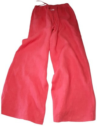 Parrot Red Linen Trousers