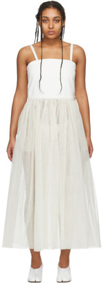 MM6 MAISON MARGIELA White Denim Tulle Tank Dress