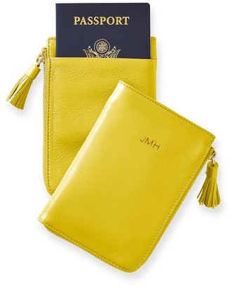Mark And Graham Leather Tassel Passport Wallet
