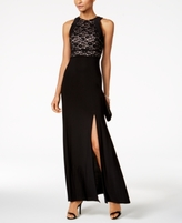 Night Way Nightway Nightway Petite Lace A-Line Gown