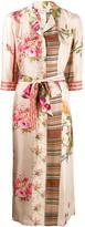 Pierre Louis Mascia Mixed-Print Shirt Dress
