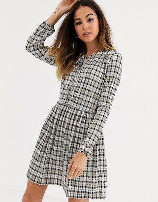 Miss Selfridge smock dress in check