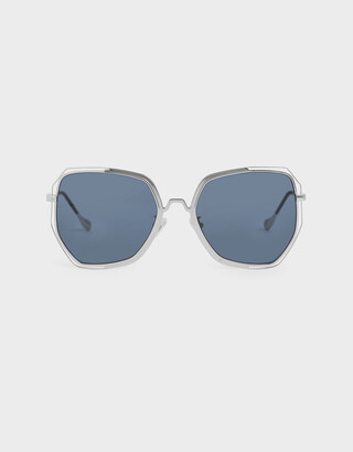 Charles & Keith Two-Tone Butterfly Sunglasses
