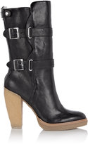 Shearling Lined Buckle Calf Boot
