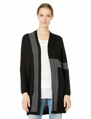 Vince Camuto Women's Colorblocked Two Pocket Cardigan