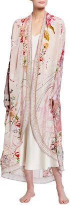 Camilla Long Kimono Silk Jacket w/Pockets