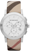 Burberry Mens Chronograph Watch with Nova Check Strap