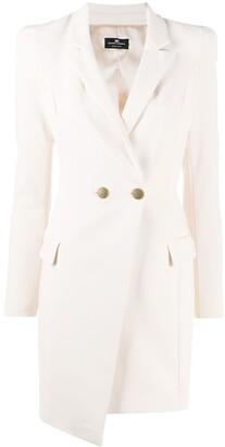 Elisabetta Franchi Double-Breasted Tuxedo Dress