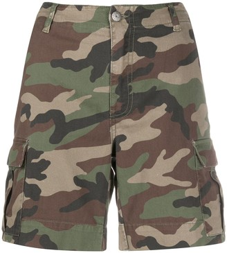 P.A.R.O.S.H. Camouflage Print Shorts