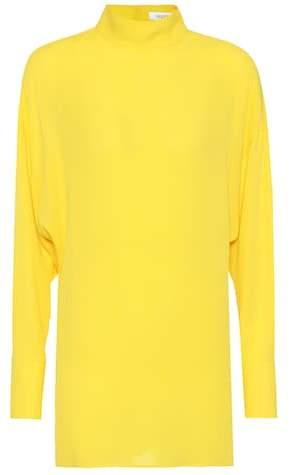 Valentino Mockneck silk blouse