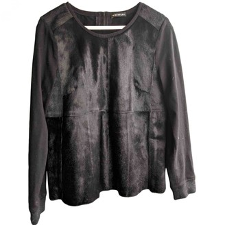 Whistles Black Leather Top for Women