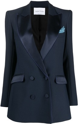 Hebe Studio Bianca double-breasted tailored blazer